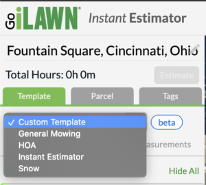 Go iLawn Templates for Job Types